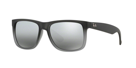 Rb4165 Justin 852/88 Rubber Grey/grey Transp. Grey Silver Mirror Gradient 51/16 145 h4b4SDb